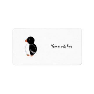Cute penguin label