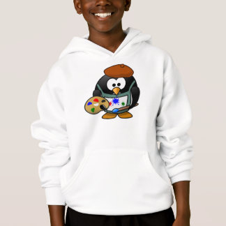 Cute Penguin on Painting Hoodies/ Sweatshirt