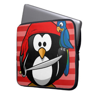 Cute Penguin Pirate Notebook Sleeve