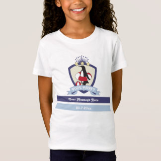Cute Penguin Swim Club Crest Pool Party Kids T-Shirt