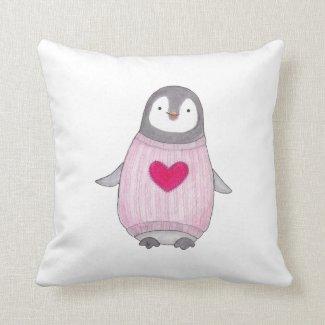Cute penguin throw pillow Adorable Penguin cushion