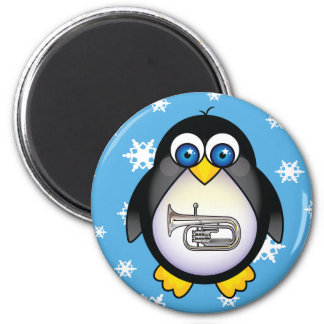 Cute Penguin Tuba Music Magnet