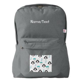 cute penguins backpack
