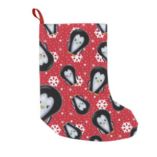 cute penguins christmas stocking