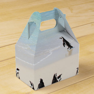 Cute Penguins On Island Holiday Exotic Unusual Favor Boxes