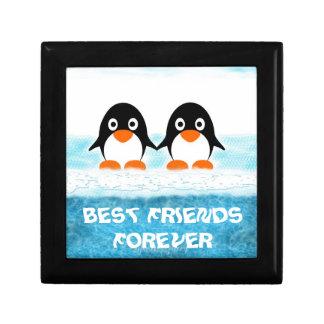 Cute Penquin On Iceberg Box-Best Friends Jewelry Boxes
