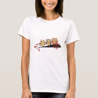 Cute Perched Owl Drawing T-Shirt