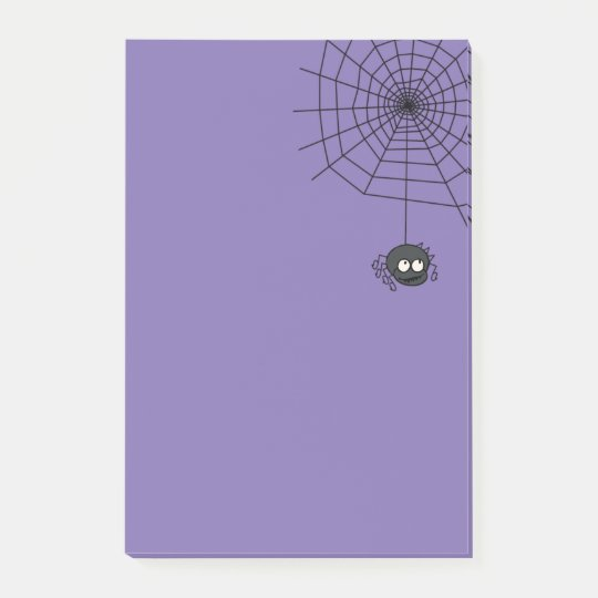 Cute Periwinkle Halloween Spiderweb Post Its Post-it® Notes