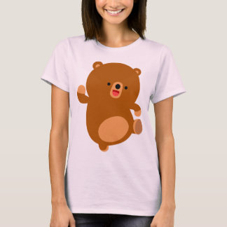 Cute Perky Cartoon Bear Women T-Shirt