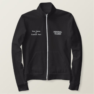 Cute Personal Trainer Fitness Track Jacket