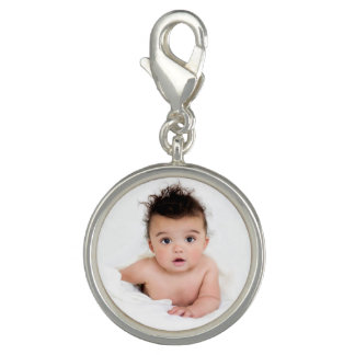 Cute Personalized Baby Photo Charm