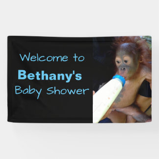 Cute Personalized Baby Shower welcome Banner