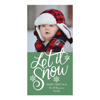 Cute Personalized Family Christmas Photo Card