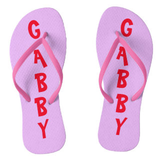 Cute Personalized Flip Flops