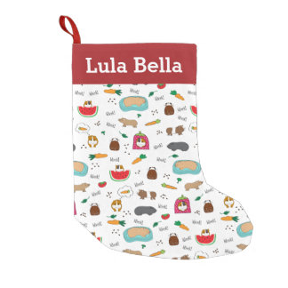 Cute Personalized Guinea Pigs Small Christmas Stocking
