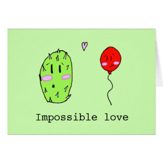 Cute personalized impossible Love Card