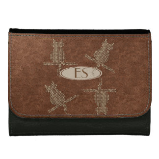 Cute Personalized Leather Look Funny Cats Wallet