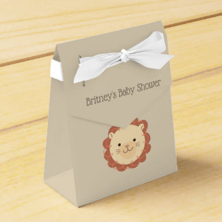 Cute Personalized Lion Baby Shower Favor Box
