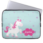 Cute Personalized Magical Unicorn Laptop Sleeve