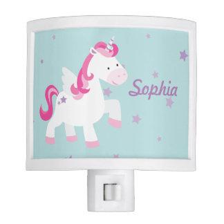 Cute Personalized Magical Unicorn Light Night Nite Light