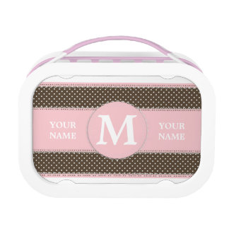 Cute Personalized Monogram and Name Lunch Box
