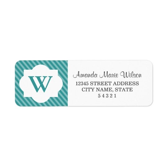 Cute Personalized Monogram Return Address Labels