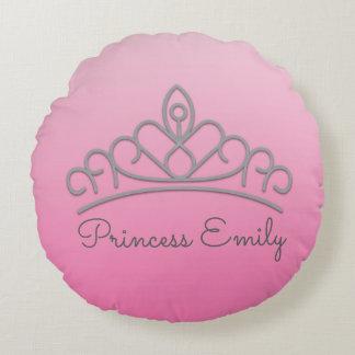 Cute Personalized Pink Princess Tiara Pillow