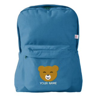 Cute Personalized Pleased Bear Face Backpack