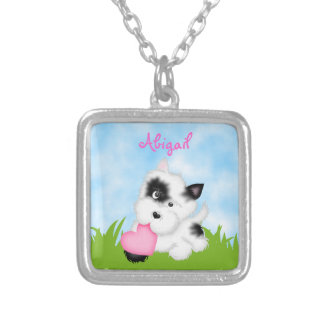 Cute Personalized Puppy Dog Necklace for Girls