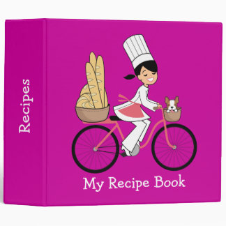 Cute Personalized Recipe Binder with Artwork