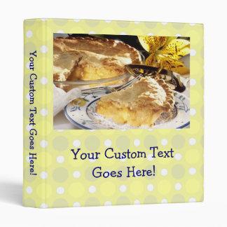 Cute Personalized Recipe Book, Apple Pie Photo Binder