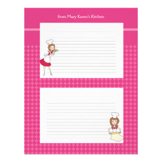 Cute Personalized Recipe Pages