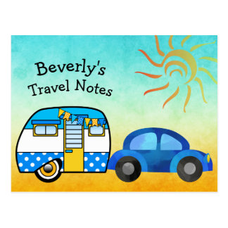 Cute Personalized Road Trip Postcard