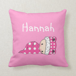 Cute Personalized Throw Pillow For Baby Girl