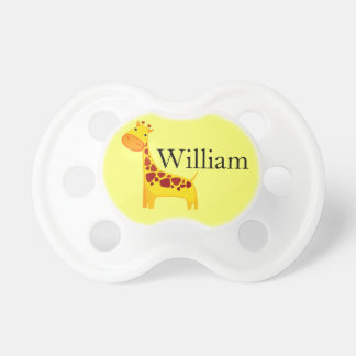 Cute Personalized Yellow Giraffe Pacifier