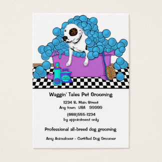 Cute Pet Grooming Business And Appointment Card