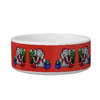 Cute Pet Name Christmas Elephants Bowl