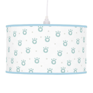 Cute Pet Paws with Hearts | Nursery Pendant Lamp