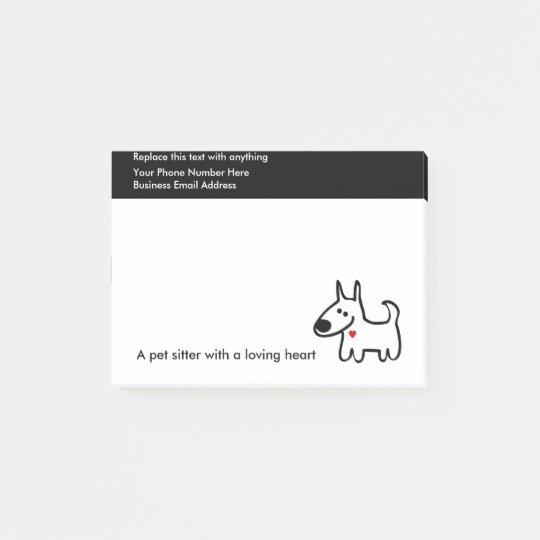 Cute Pet Sitter Design Post-it Notes
