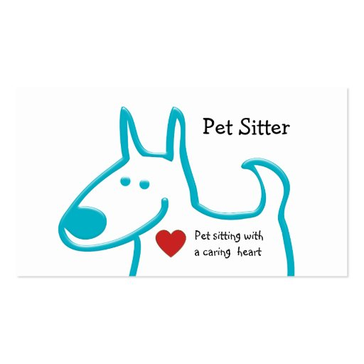 Cute Pet Sitting Business Cards