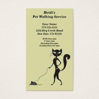 Cute Pet Walking Service Business Card