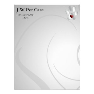 Cute Pets Business Letterheads Customized Letterhead