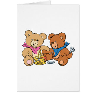 Cute Picnic Bears Card