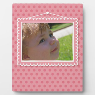 Cute picture frame with polkadots plaque