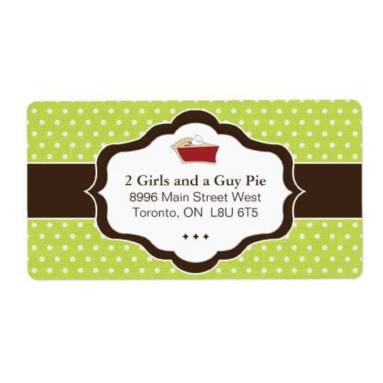Cute Pie Packaging & Shipping Labels