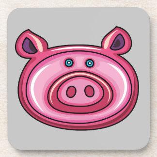Cute Pig Beverage Coasters