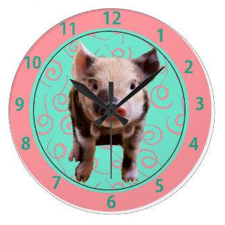 Cute Pig Clock