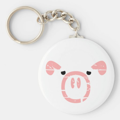 Cute Pig Face illusion. Keychain