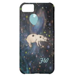 cute pig in the sky with stars iPhone 5C cover