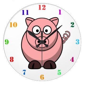 CUTE PIG Kids Wall Clock